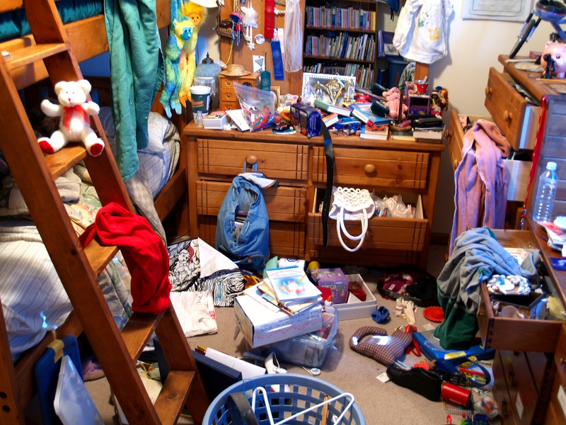 Ein unaufgeräumtes Schlafzimmer als Beispiel für die indexierten Seiten vieler Websites