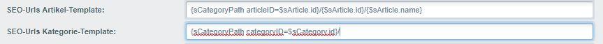 Beispiel für SEO-URLs in Shopware 5
