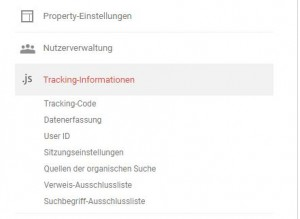 Google Analytics: Property Ansicht